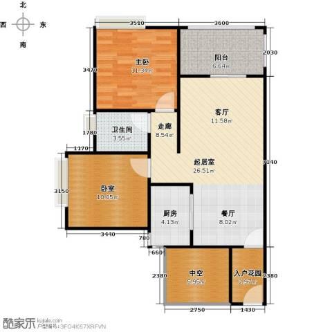 南沙创鸿汇1室0厅1卫1厨77.00㎡户型图