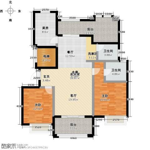 恒文星尚湾2室0厅2卫1厨127.00㎡户型图
