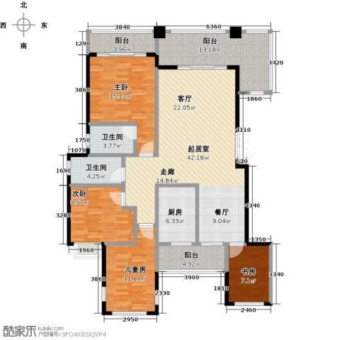 奥园水云间4室0厅2卫1厨121.87㎡户型图
