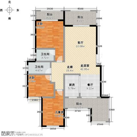 奥园水云间3室0厅2卫1厨168.00㎡户型图