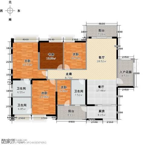 龙泉豪苑5室1厅3卫1厨215.00㎡户型图