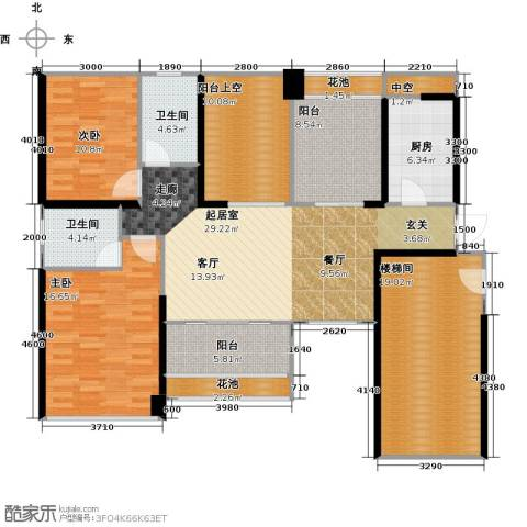 葡萄庄园左岸2室0厅2卫1厨120.27㎡户型图