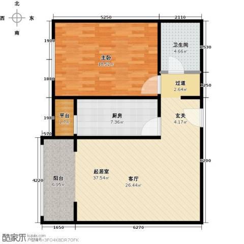 华风龙腾郡1室0厅1卫1厨76.00㎡户型图