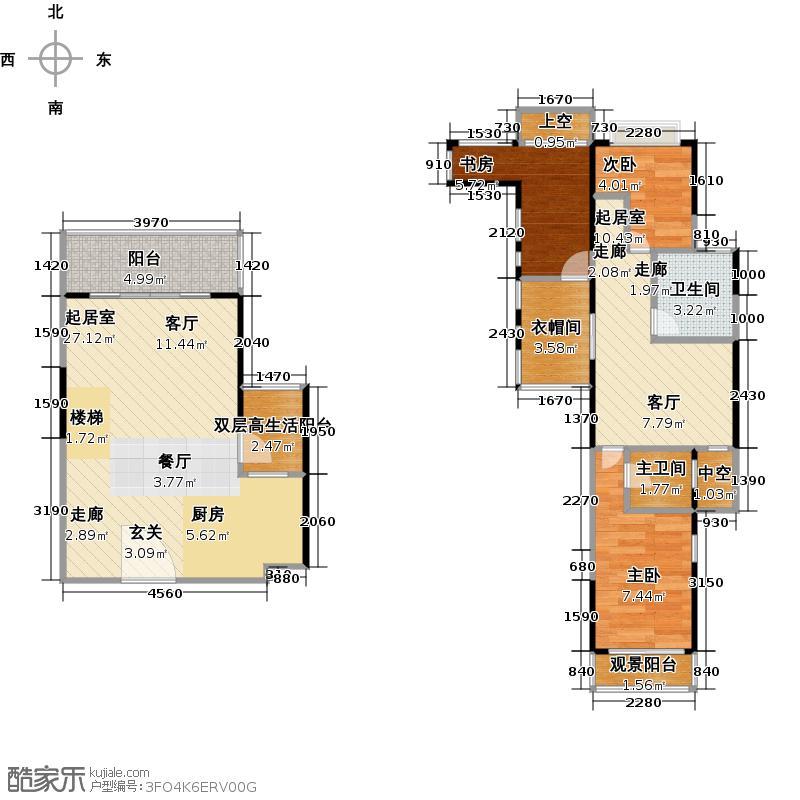 朗钜创公馆C2(1)户型3室1卫