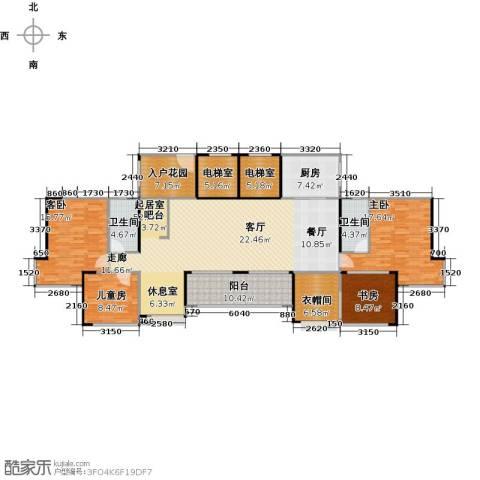 深业东城国际4室0厅2卫1厨163.00㎡户型图