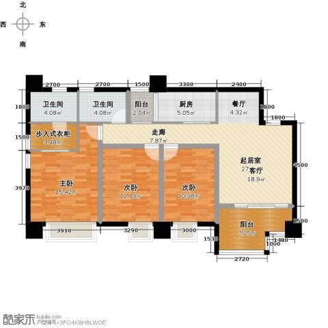 木鱼石水木年华3室0厅2卫1厨133.00㎡户型图