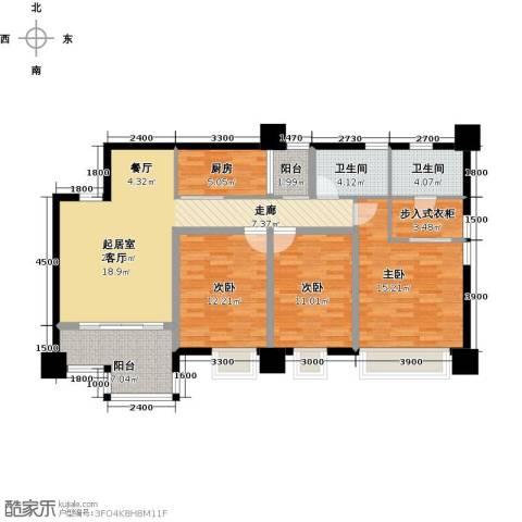 木鱼石水木年华3室0厅2卫1厨132.00㎡户型图