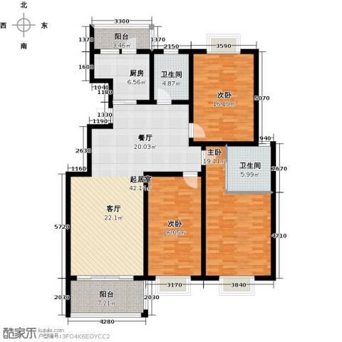 金地城三期御领3室0厅2卫1厨138.00㎡户型图
