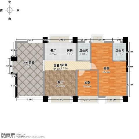 虎门地标2室1厅2卫0厨138.00㎡户型图