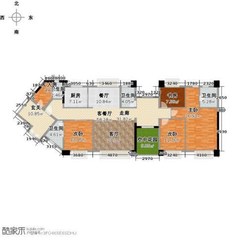 虎门地标4室1厅4卫1厨231.00㎡户型图
