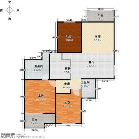 怡湖华庭澜郡3室0厅2卫1厨146.00㎡户型图