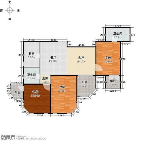 怡湖华庭澜郡3室0厅2卫1厨143.00㎡户型图