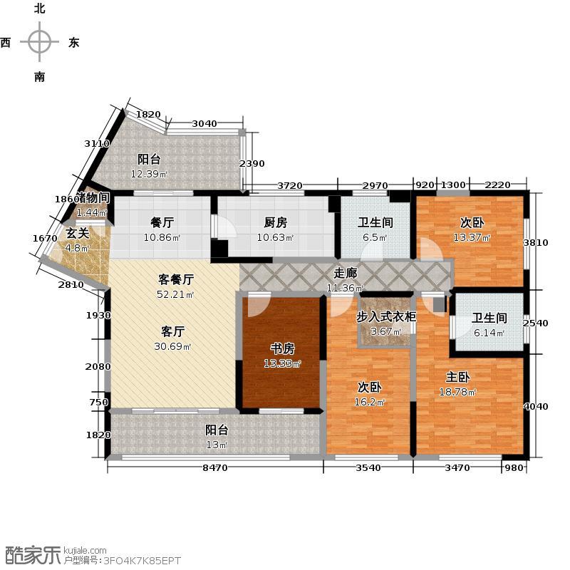浦江海景C户型4室1厅2卫1厨