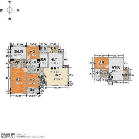 绿城玉兰公馆4室1厅3卫1厨176.00㎡户型图