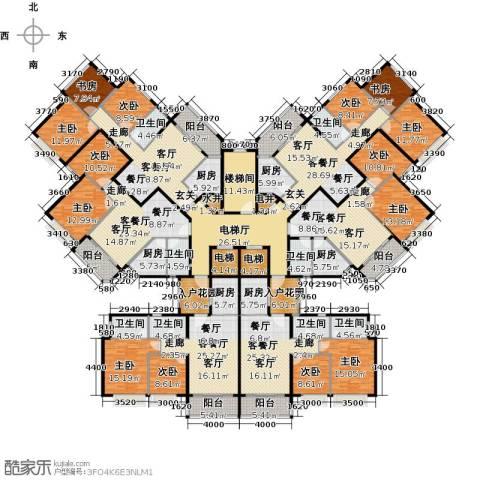 恒大御湖9室6厅8卫6厨668.00㎡户型图