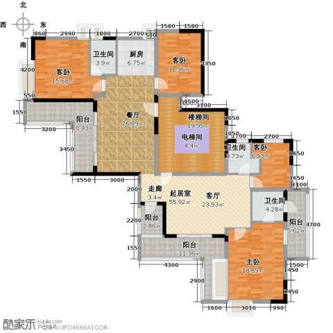 花都颐和山庄4室0厅3卫0厨180.00㎡户型图