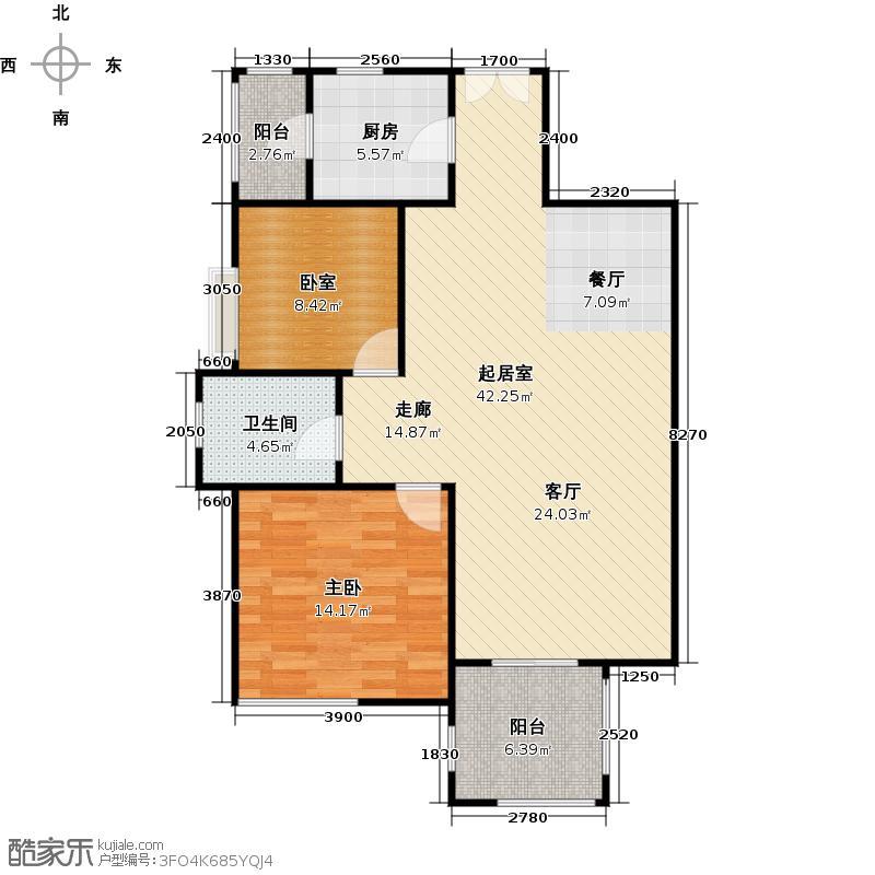 星品C1/C2栋02单位双数层户型1室1卫1厨