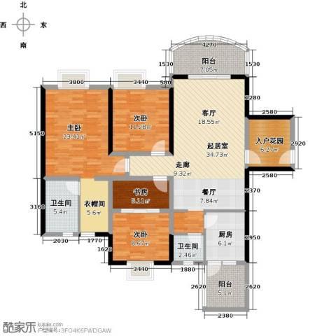 天邑宏御花园4室0厅2卫1厨130.00㎡户型图