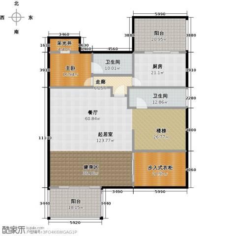 汤臣湖庭花园1室0厅2卫1厨281.00㎡户型图