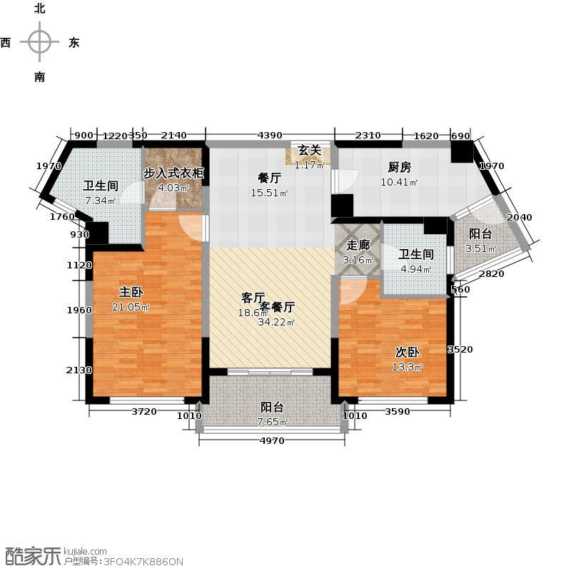 浦江海景B户型2室1厅2卫1厨