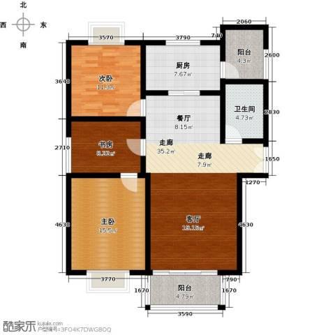 祥腾新领寓3室0厅1卫1厨131.00㎡户型图