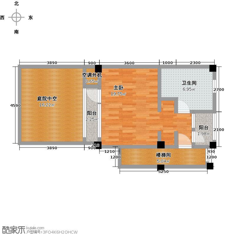 天域青城二期二批次-A1二层户型1室1卫