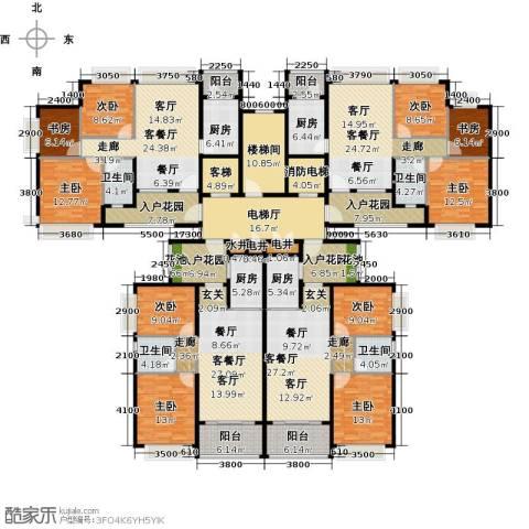 恒大御湖9室4厅4卫4厨327.73㎡户型图