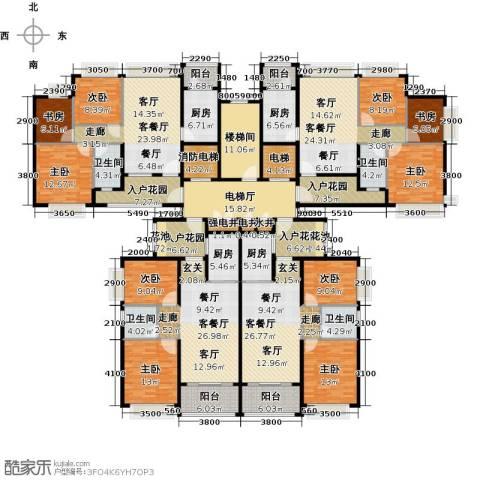 恒大御湖9室4厅4卫4厨323.42㎡户型图