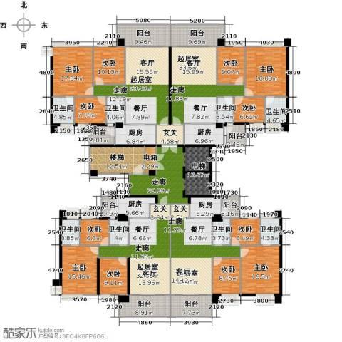 景湖春晓二期9室0厅8卫4厨580.00㎡户型图
