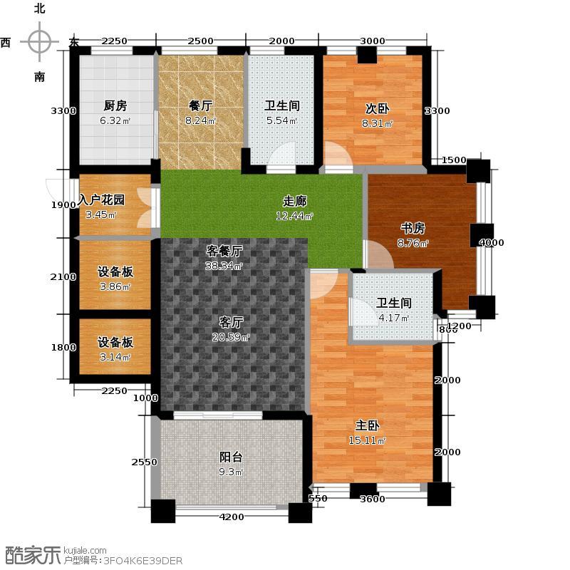 国际名都A观景阳台户型3室1厅2卫1厨