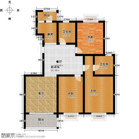 金地城三期御领3室0厅2卫1厨126.00㎡户型图