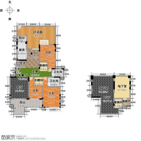 绿地海棠湾3室1厅2卫1厨203.55㎡户型图