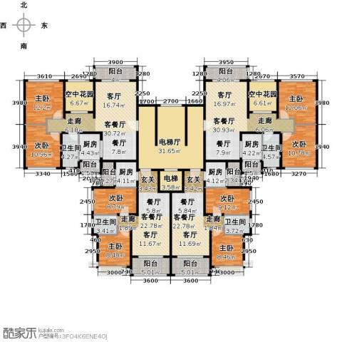 恒大御湖8室4厅4卫4厨418.00㎡户型图