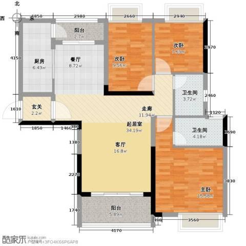 锦绣天伦花园3室0厅2卫1厨113.00㎡户型图