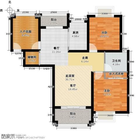 优山美地2室0厅1卫1厨117.00㎡户型图