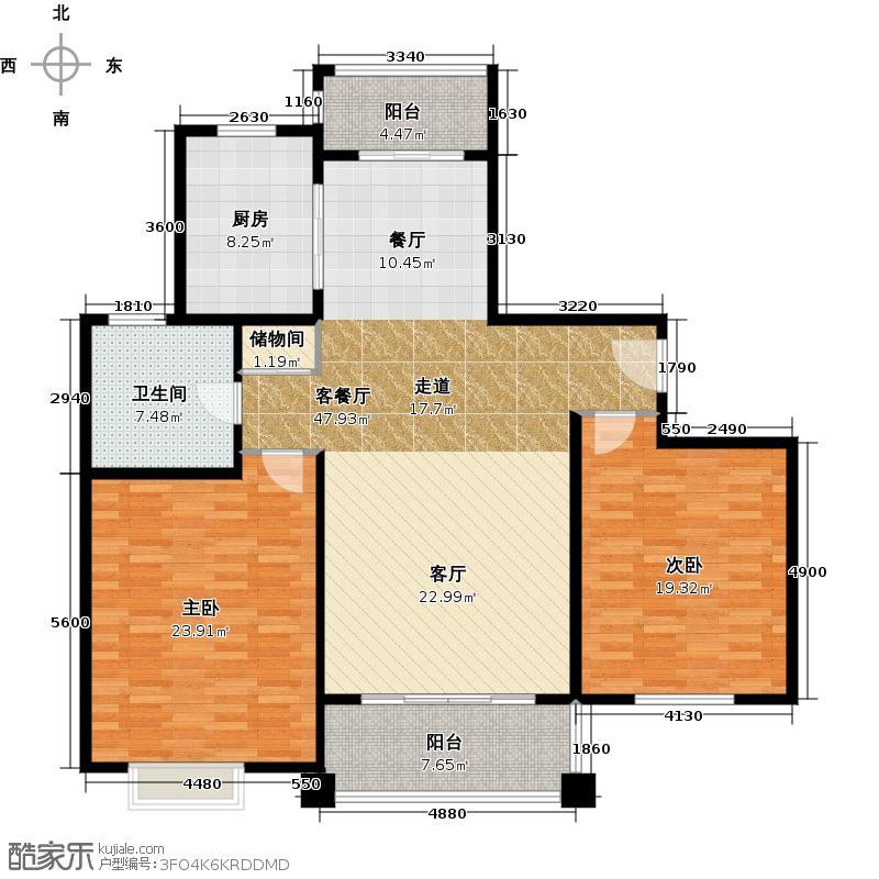 夏朵小城(绿岛方洲)户型2室1厅1卫1厨