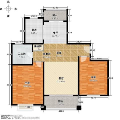 夏朵小城(绿岛方洲)2室1厅1卫1厨165.00㎡户型图