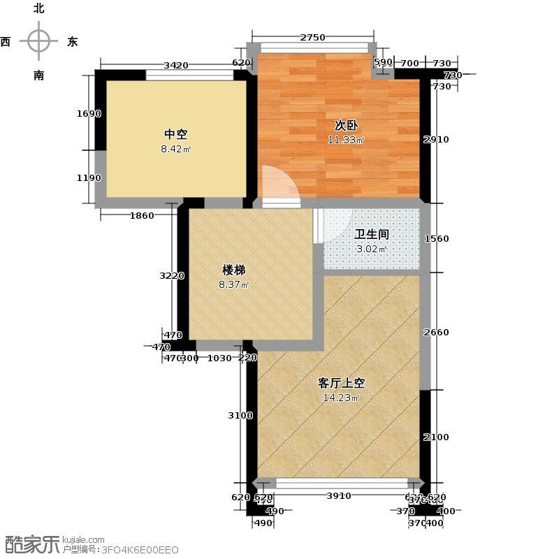 大东城84.00㎡B1复式上层户型1室1卫