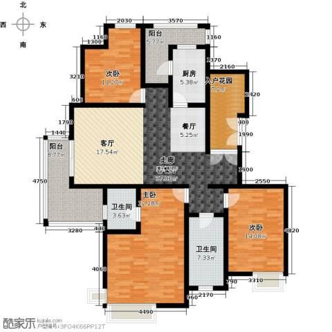 恒大雅苑3室1厅2卫1厨178.00㎡户型图
