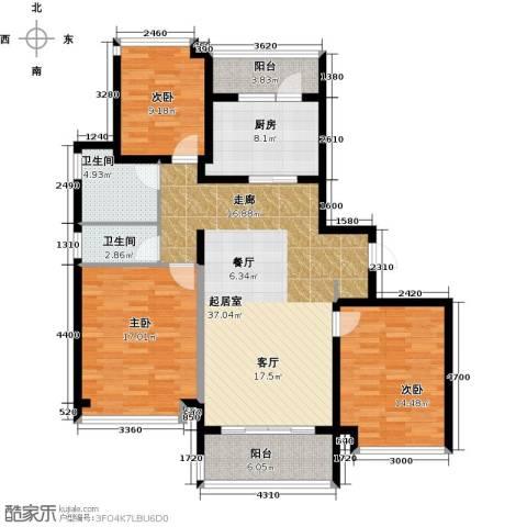 好世凤翔苑3室0厅2卫1厨118.00㎡户型图