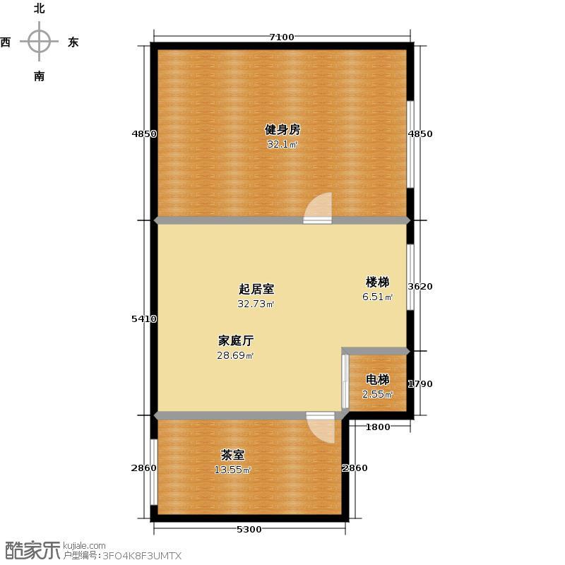 万科江樾A2负一层平面图户型