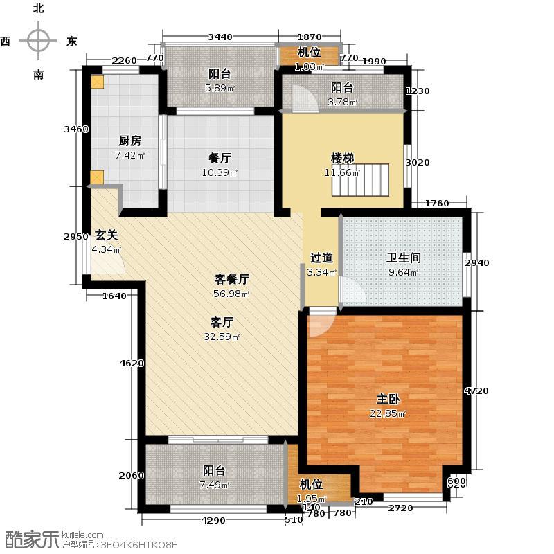 御菁园132.00㎡C6户型1室1厅1卫1厨