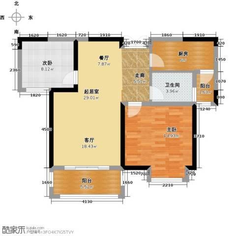 苏宁荣悦2室0厅1卫1厨99.00㎡户型图