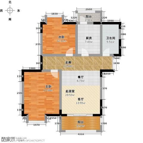 苏宁荣悦2室0厅1卫1厨93.00㎡户型图