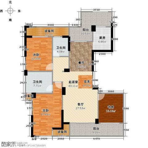 亿丰时代广场3室0厅2卫0厨169.00㎡户型图