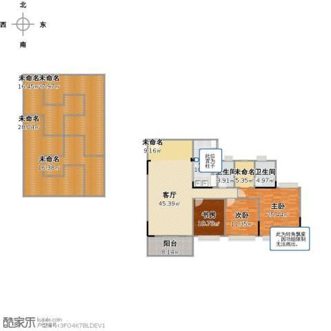 中澳世纪城3室1厅2卫1厨281.00㎡户型图