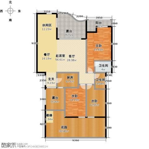 万山国际3室0厅2卫1厨177.37㎡户型图