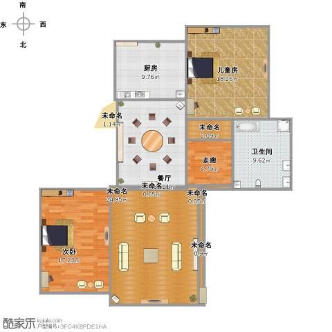 扬州印象花园2室1厅1卫1厨138.00㎡户型图