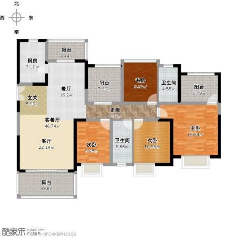 尚海湾豪庭4室1厅2卫1厨198.00㎡户型图