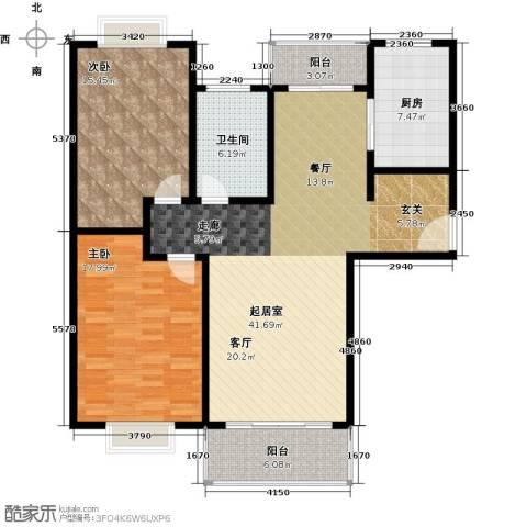 康悦亚洲花园2室0厅1卫1厨109.00㎡户型图